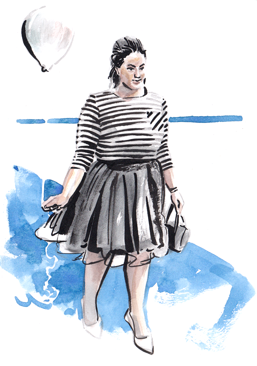 Daily Fashion Illustration 176, Rochelle Johnson