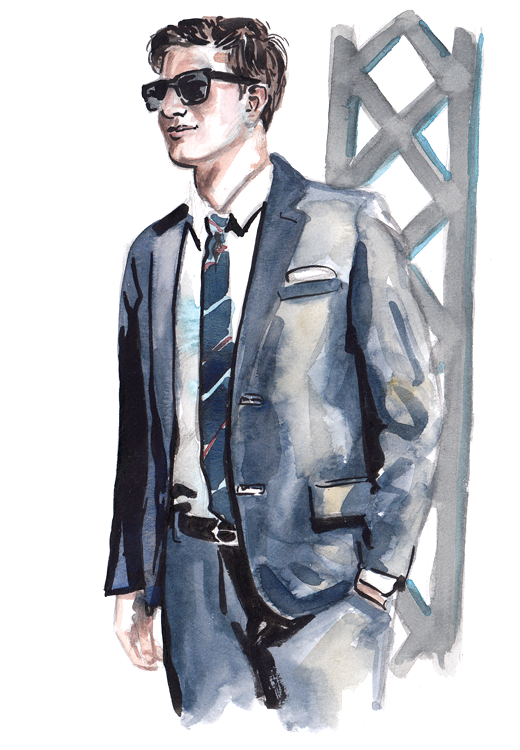 Daily Fashion Illustration 177, Jake Kuczeruk