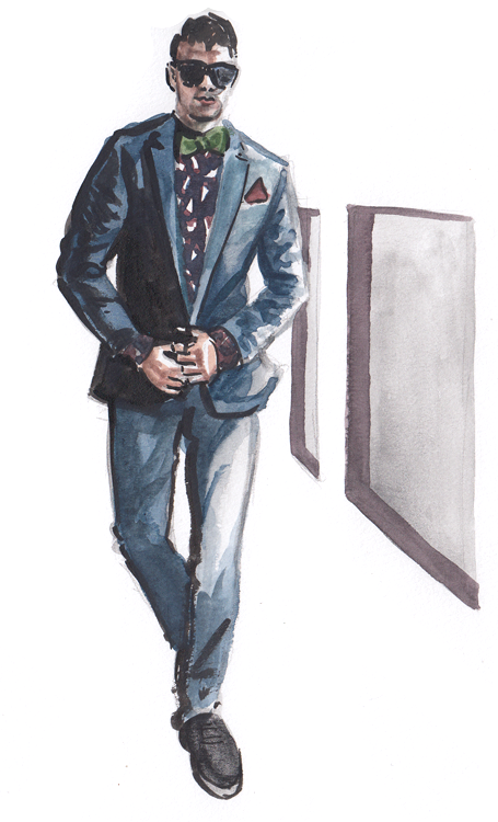 Daily Fashion Illustration 184, Franko Dean