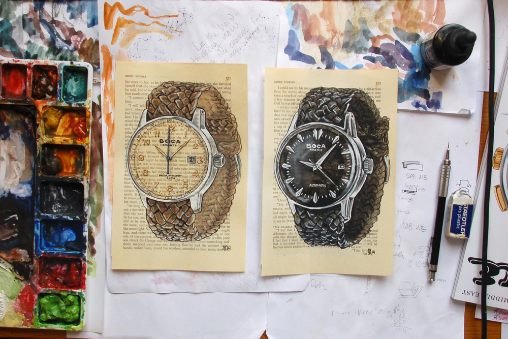 Boca MMXII book page watch paintings