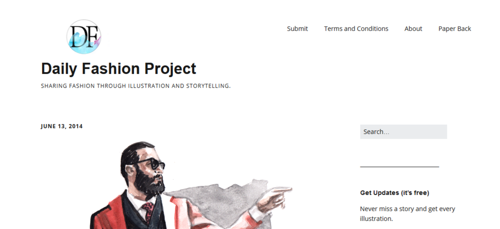 Daily Fashion Project Website