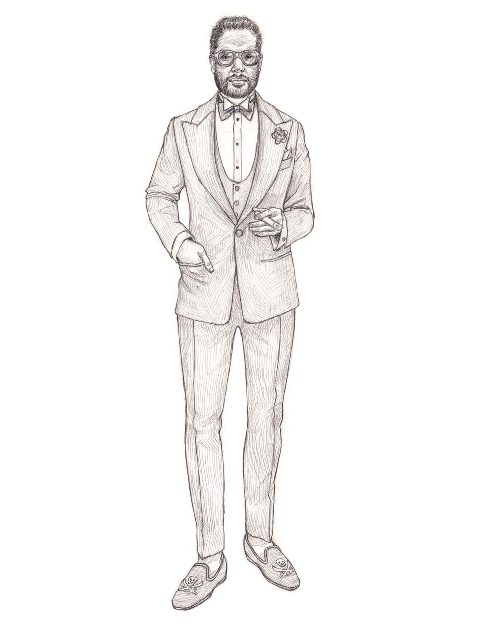Menswear Drawing, Angel Bespoke