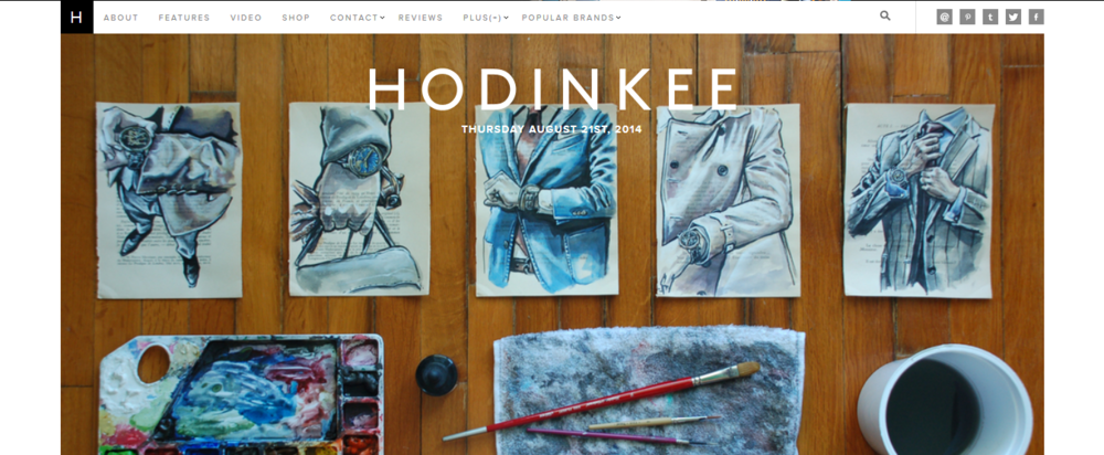 I took a screenshot of the front page of Hodinkee the day of the feature...
