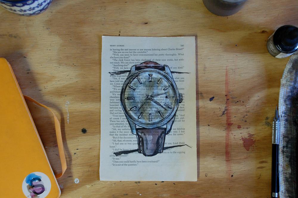 Eterna watch painting process