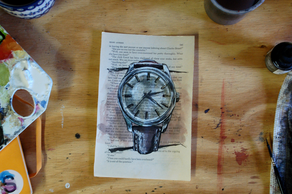 Eterna watch painting process