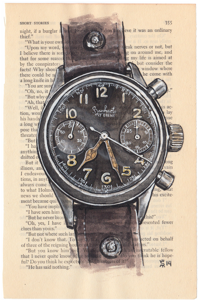 Hanhart watch painting