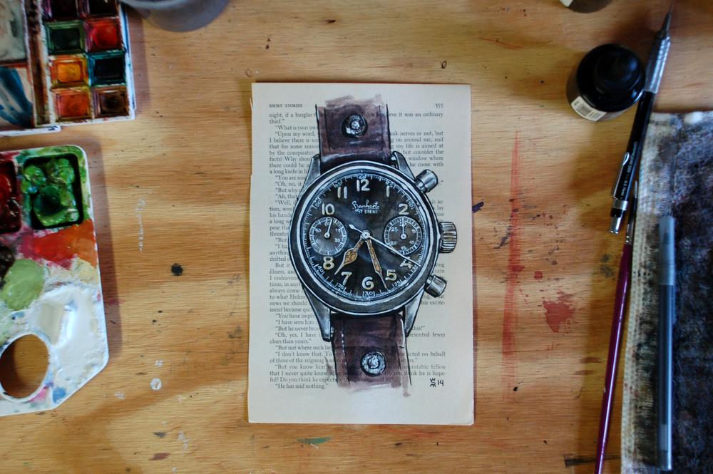 Hanhart watch painting process