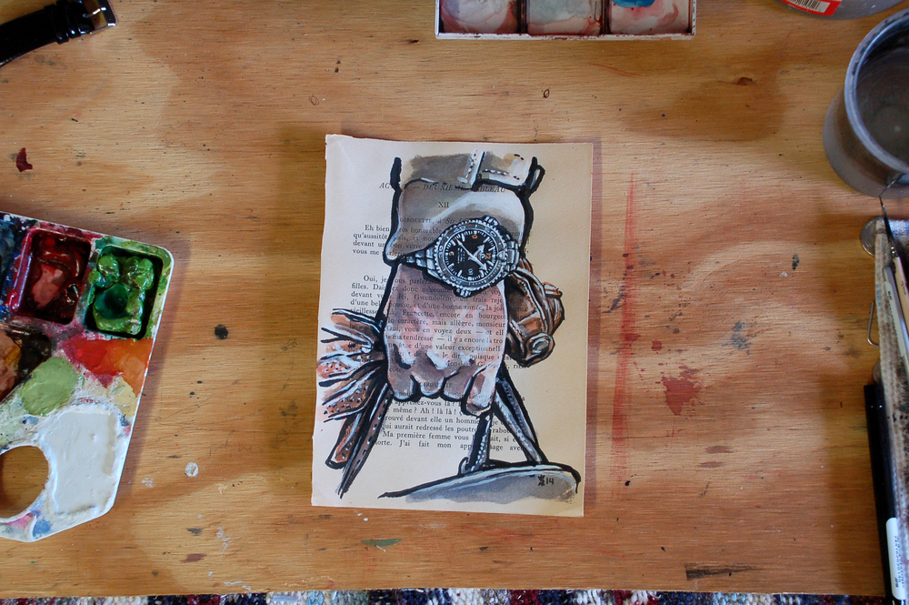Omega Seamaster painting process