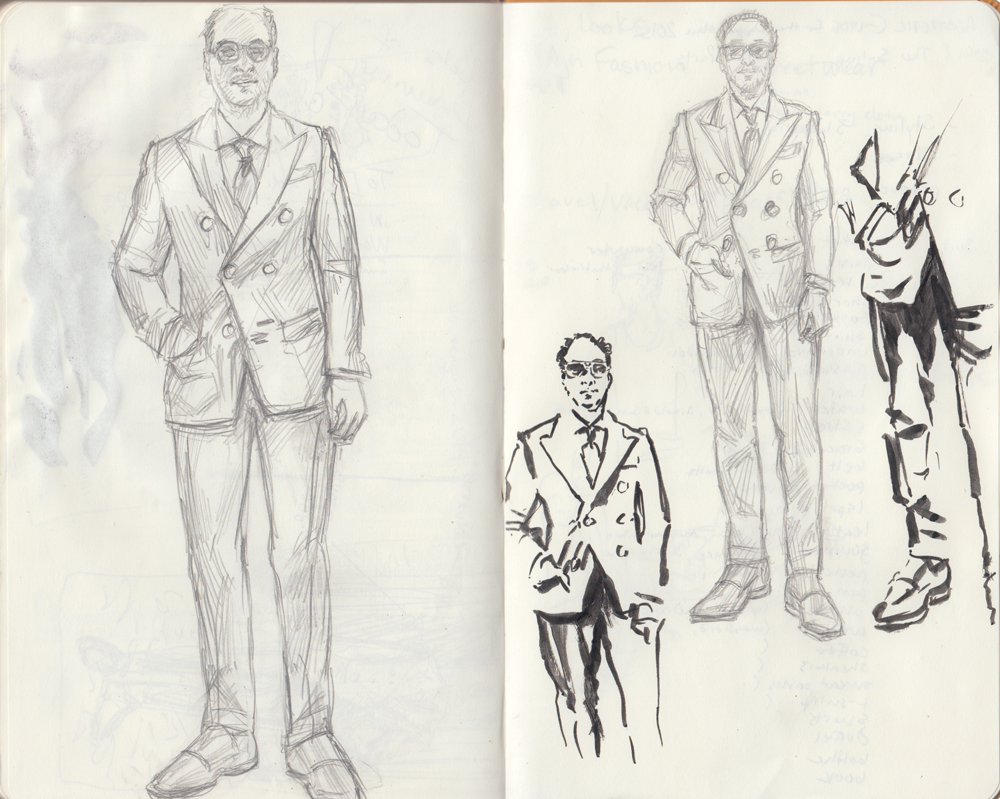Gianni Agnelli sketches