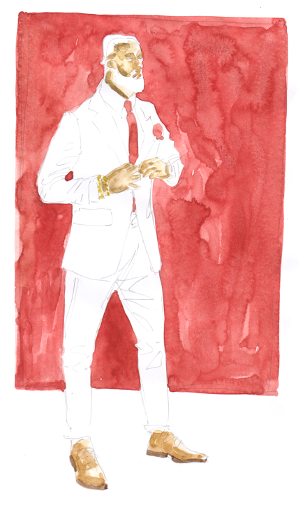 Red Tie Illustration