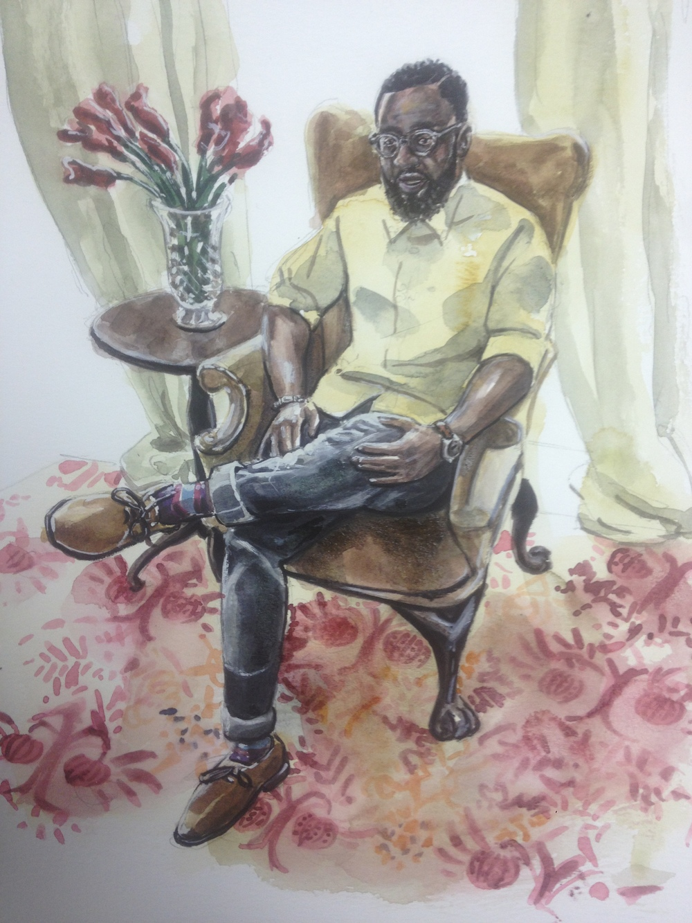 Nene Watercolor Painting at Billy Reid