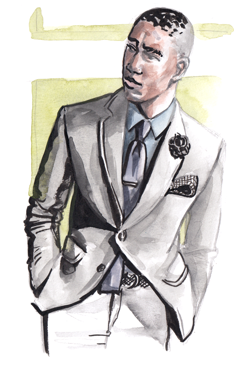 Daily Fashion Illustration Quinton Brown