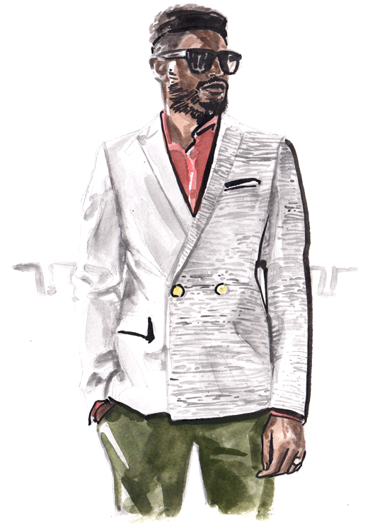 Daily Fashion Illustration Larry Lamotey