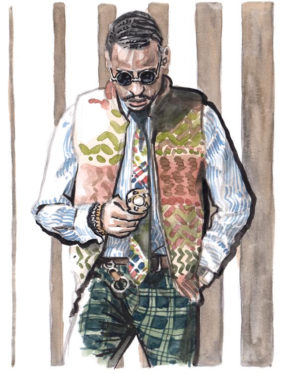 Daily Fashion Illustration Lonnie Hawkins