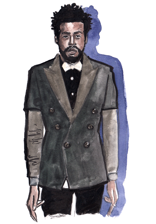 Daily Fashion Illustration Omar Campbell