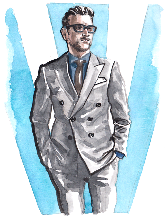 Daily Fashion Illustration Tom Daguanno