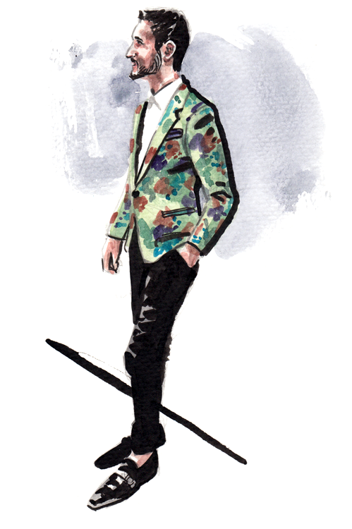Daily Fashion Illustration Sean McIntyre
