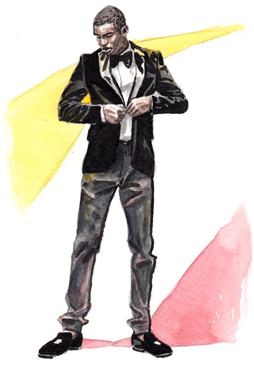 Daily Fashion Illustration Jashaun Roebuck