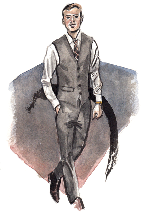 Daily Fashion Illustration Michael Stark