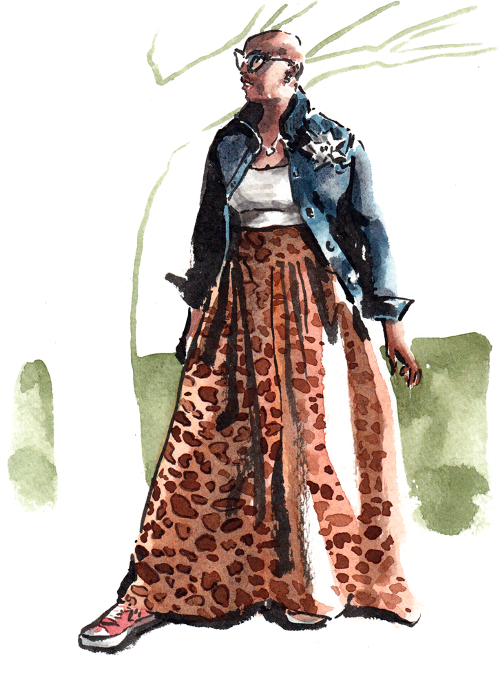 Daily Fashion Illustration, Donnisha Beverly