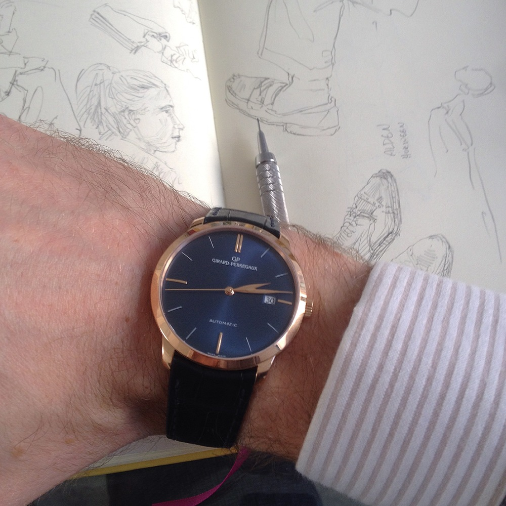 My mind was blown with the collection of Girard Perregaux watches that they had on hand. This 1966 watch is exactly what I have in mind when I think of the perfect Sunflowerman time-piece. Maybe more so if it had a small accent of Sunflowerman Yellow.
