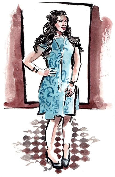 Daily Fashion Illustration, Shira Rosenbluth