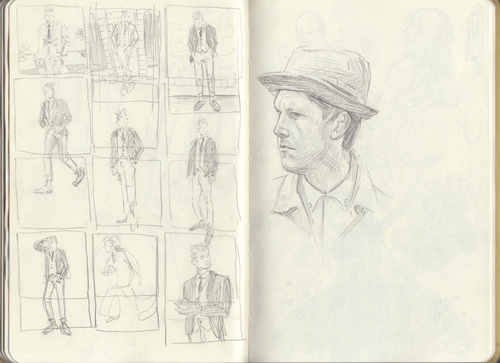 Perry Ellis and Kirk Chambers in the Aesthetic Guide for the Dapper Man sketches