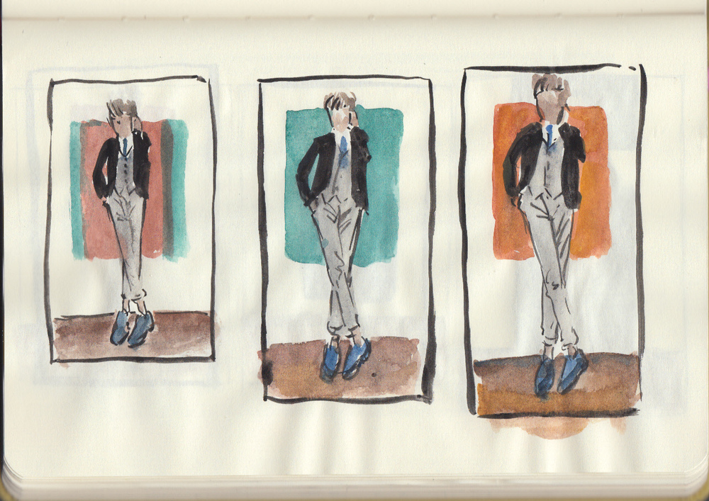 AG4DM 2. Perry Ellis and Kirk Chambers color studies.