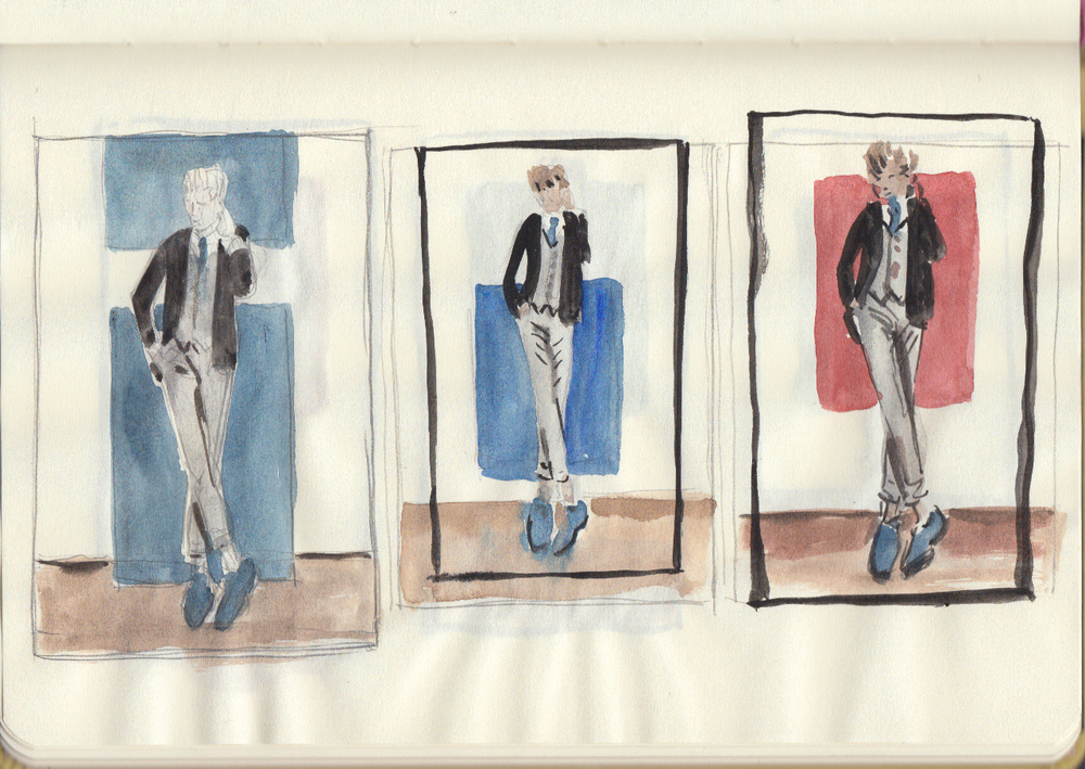 AG4DM 2. Perry Ellis and Kirk Chambers color studies 2.