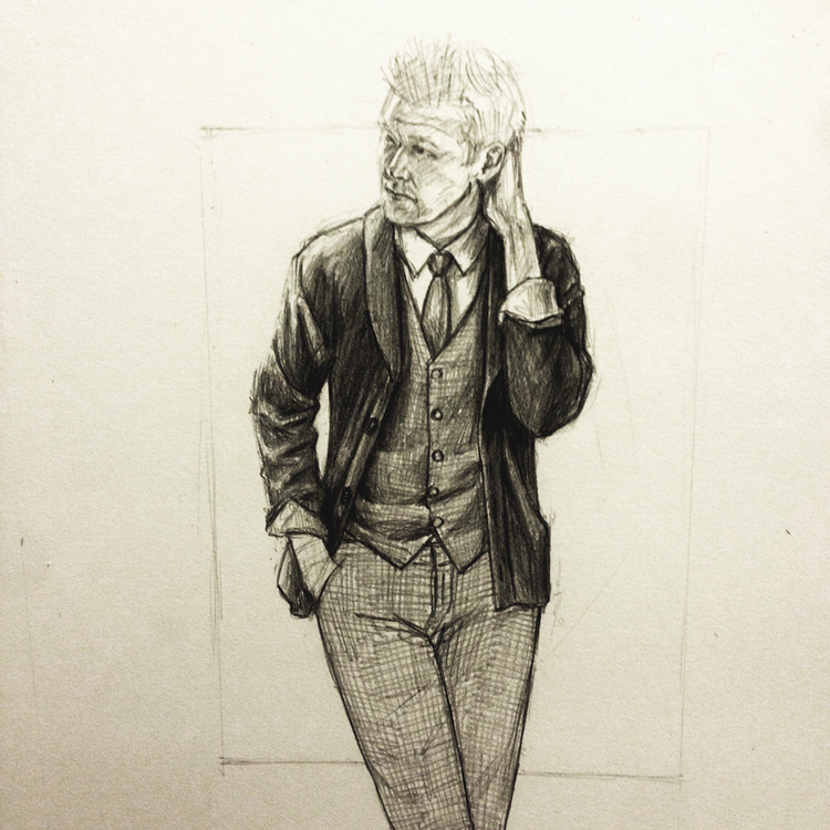 Perry Ellis Kirk Chambers Drawing 3