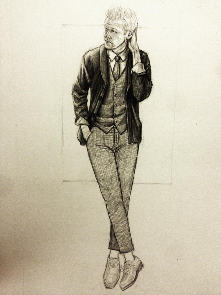 Perry Ellis Kirk Chambers Drawing 4
