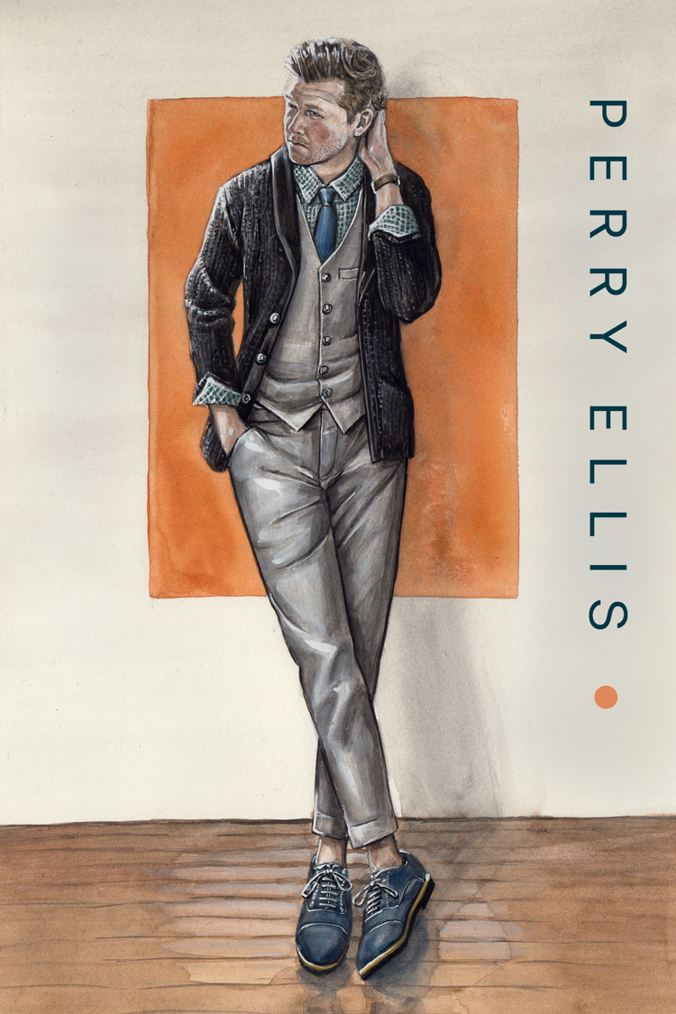 Perry Ellis and Kirk Chambers in the Aesthetic Guide for the Dapper Man