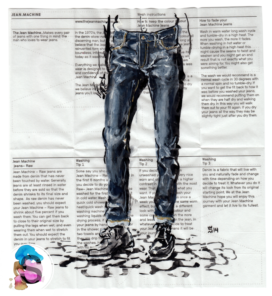 Jean Machine fashion painting
