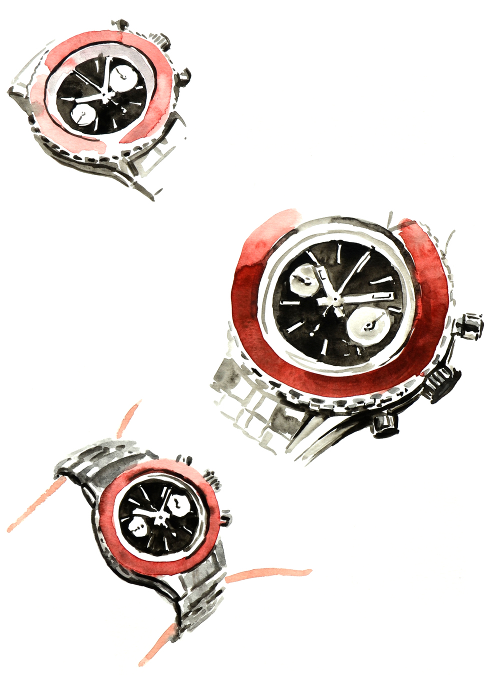 Longines Heritage Diver illustration sketches