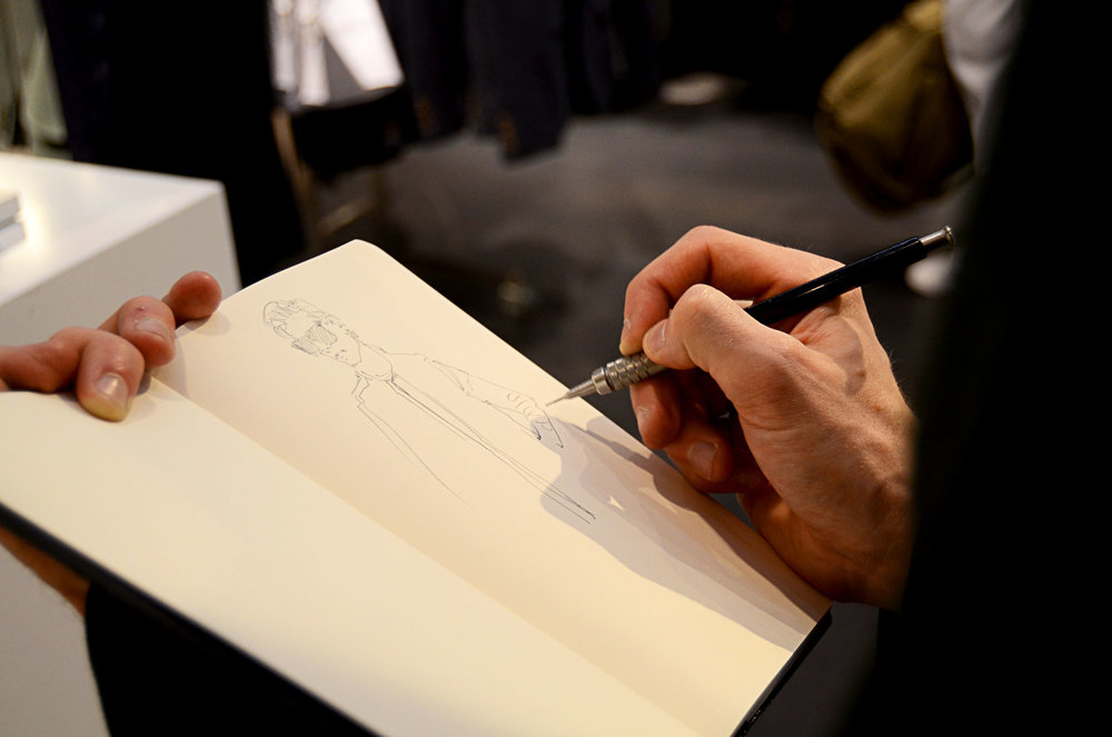 Drawing at Topman store opening