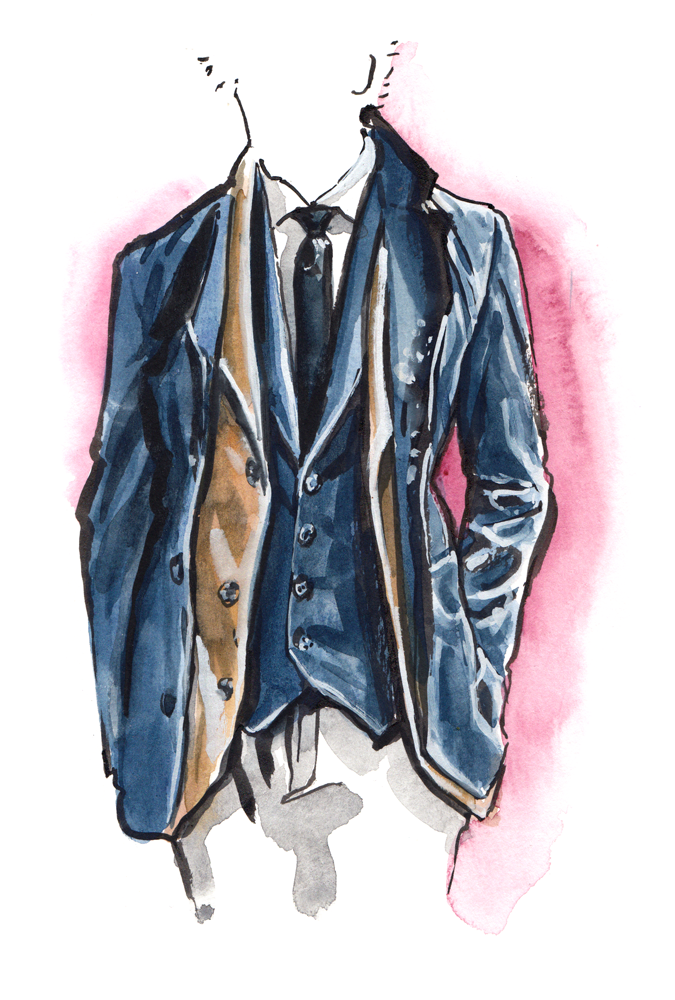 Brunello Cucinelli fashion illustration
