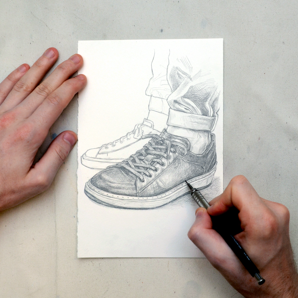 To Boot New York sneaker drawing