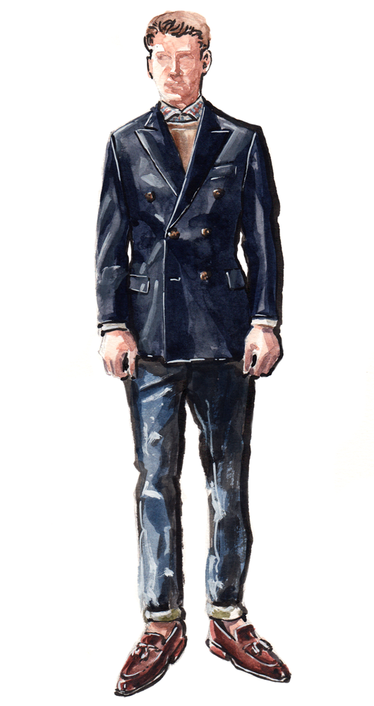 H.Stockton suit illustration