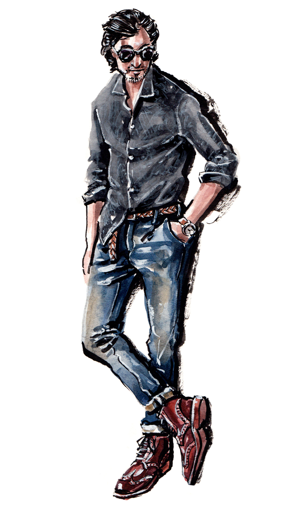 Bonobos Casual style painting