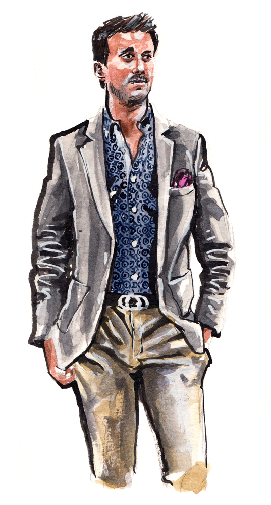 Stone Rose fashion illustration for PROJECT Show