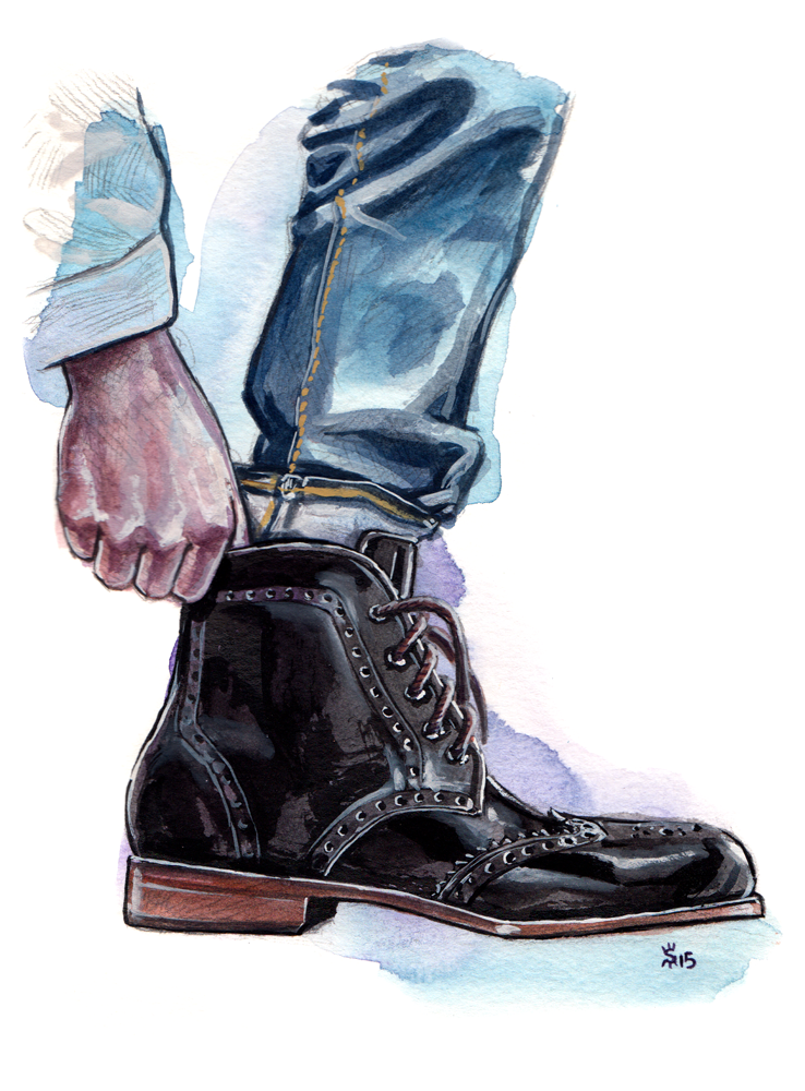 Tawny Goods Black Boot fashion illustration by Sunflowerman