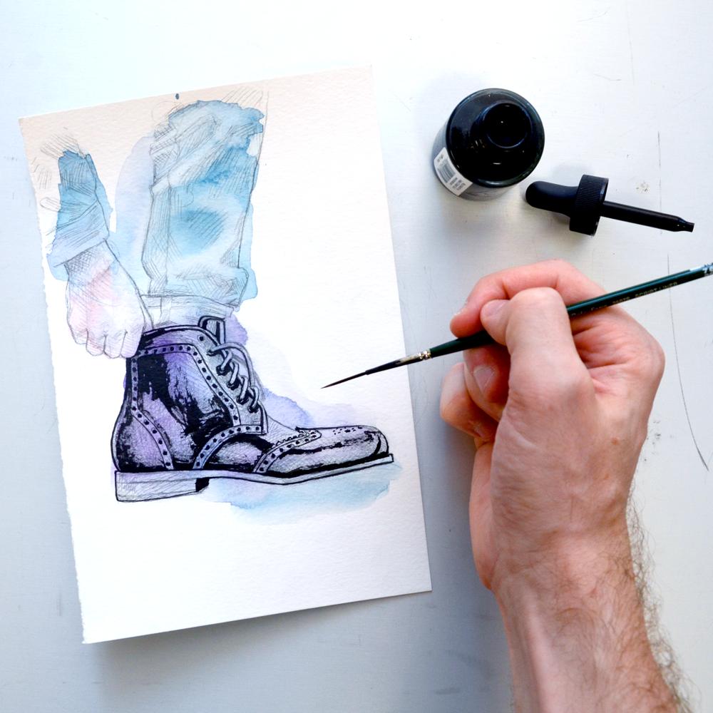 Tawny Goods boot illustration