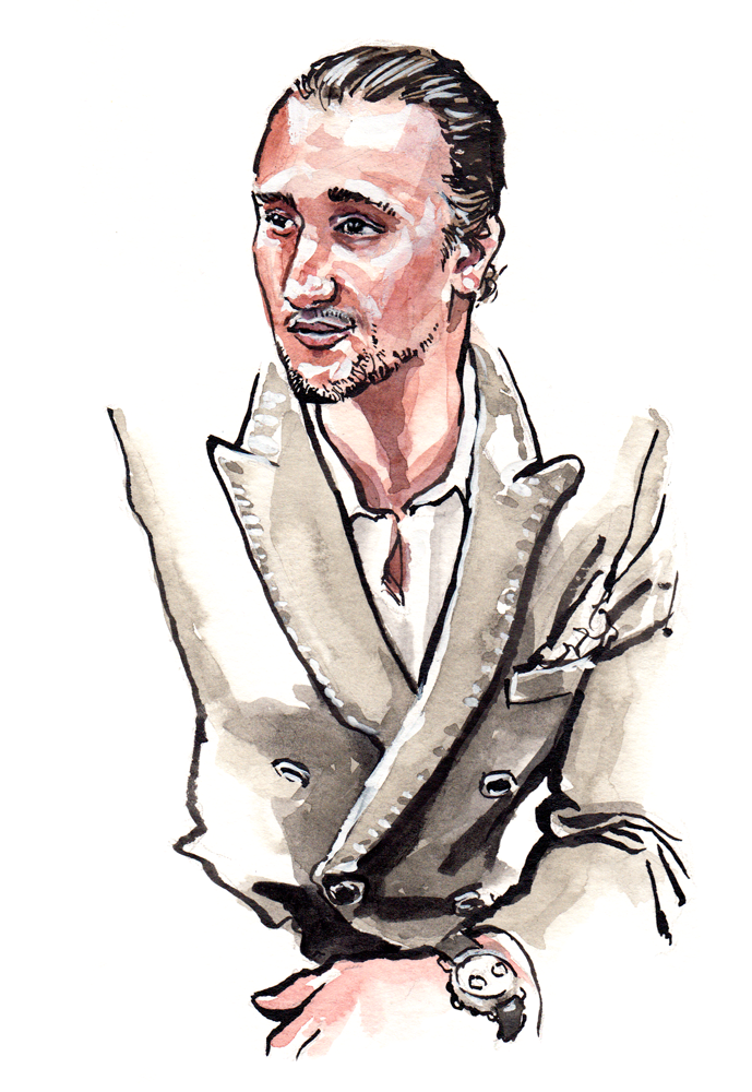 Menswear Illustration of Marcel Floruss