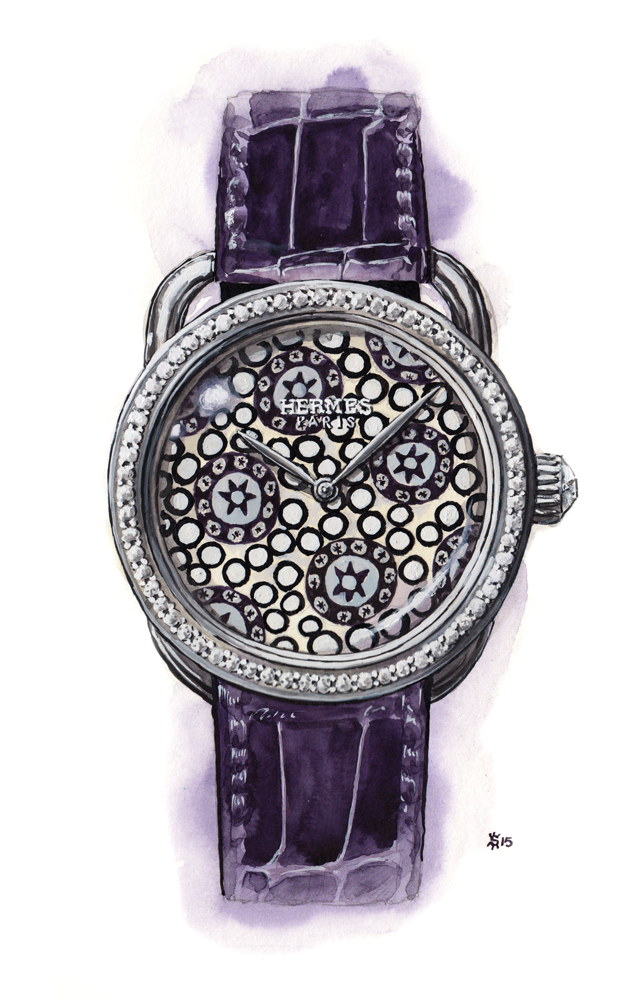 Hermes millefiori watch