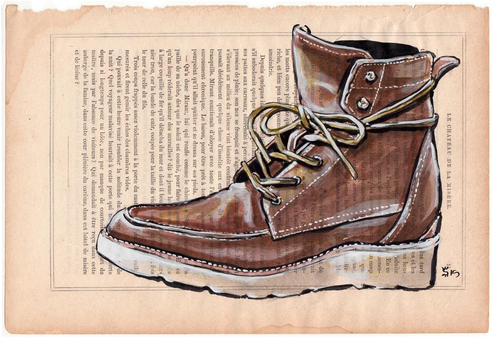 Esquivel Shoes painting for Colette