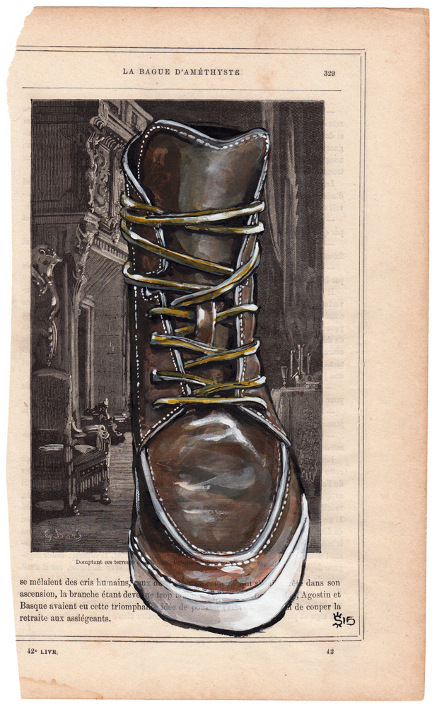 Esquivel Shoes painting for Colette