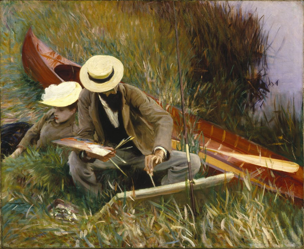 An Out-of-Doors Study (1889) depicting Paul César Helleu sketching with his wife Alice Guérin