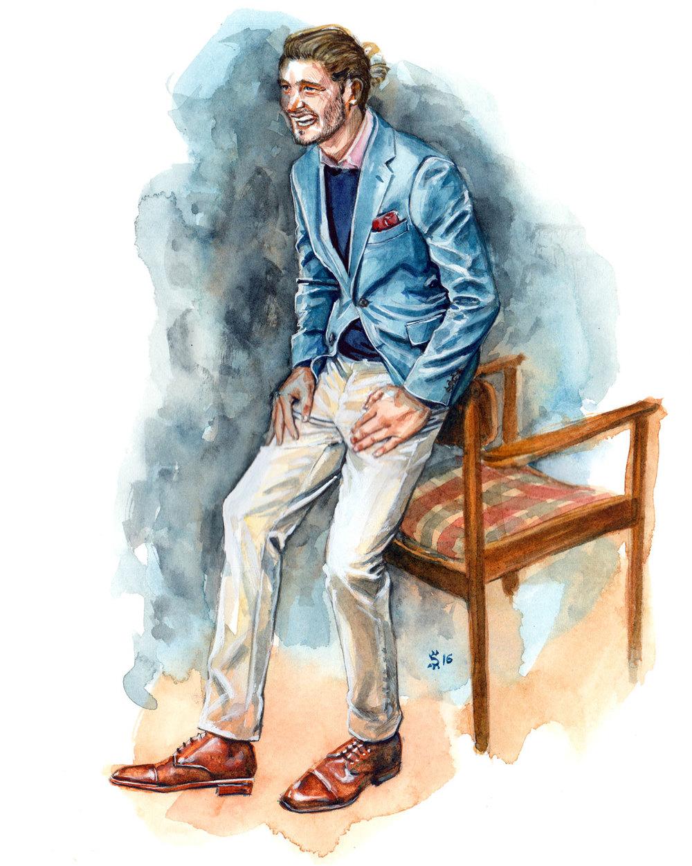 MJ Bale fashion illustration