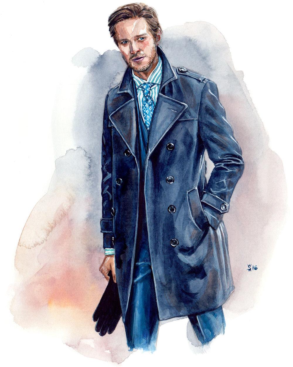 MJ Bale Menswear Illustration