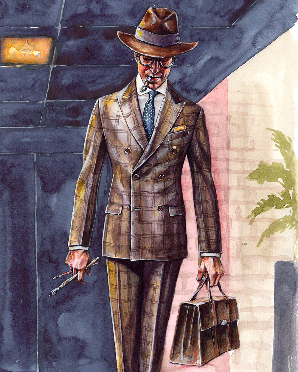 The Illustrator, menswear illustration by Sunflowerman